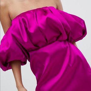 Pink Satin Mini Dress